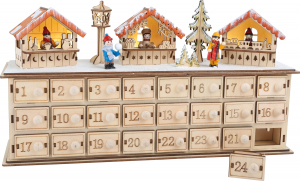 DECOR CRACIUN CALENDAR ADVENT CHRISTMAS MARKET 40 CM