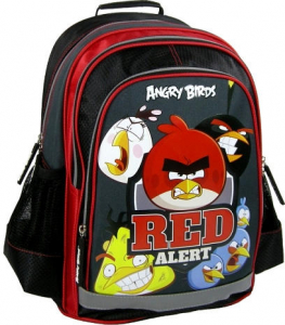 Ghiozdan scoala copii, Red Alert ANGRY BIRDS, 39 cm