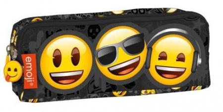 Penar scoala, neechipat, dublu (2 compartimente), Emoji, Smile Face