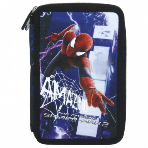 Penar scoala, echipat, dublu(2 compartimente), Baieti, Amazin Spiderman