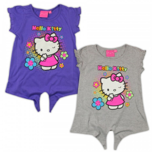TRICOU FLOWERS HELLO KITTY