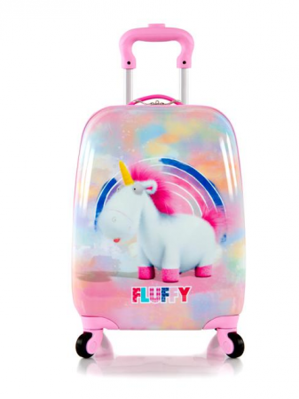 Troler calatorie ABS Copii, Fete, Heys Unicorn, Roz, 46 cm