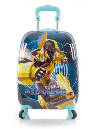 Troler calatorie ABS Copii - Baieti, Heys Transformers, Albastru/Turcoaz, 46 cm