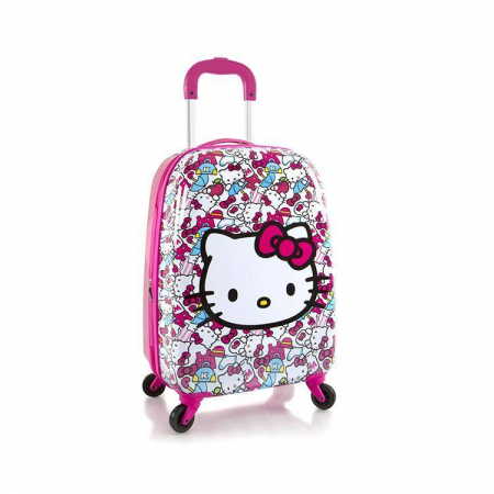 Troler ABS Copii, Fete, Heys Hello Kitty, Roz, 51 cm