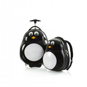 Set-troler-calatorie-vacanta-si-ghiozdan-copii-pinguin