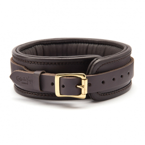 LEATHER COLLAR BROWN