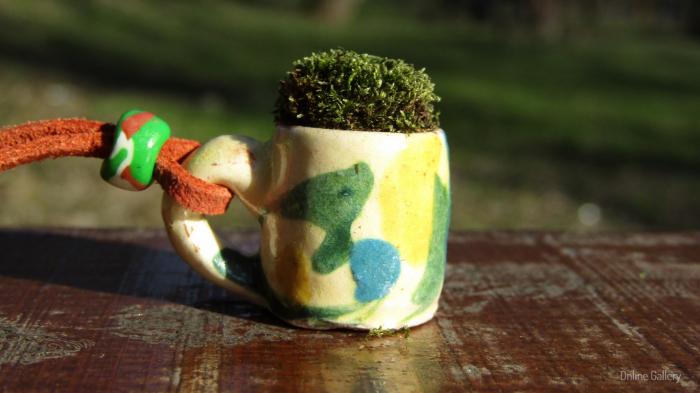 Pandantiv handmade – eco-chic natur