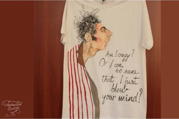 Tricou Pictat Kramer Seinfeld