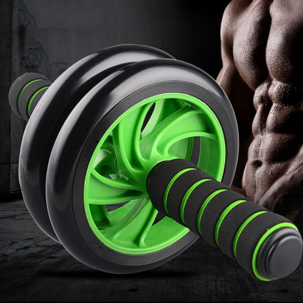 Aparat definire musculatura abdomen Double Wheel