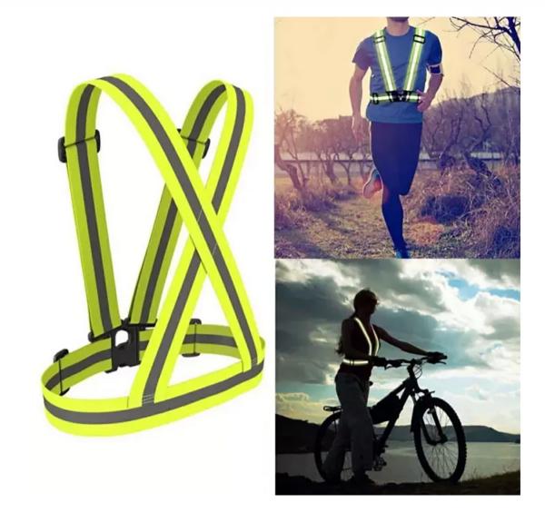 Ham bretele ajustabile reflectorizante, constructii, ciclism, sport