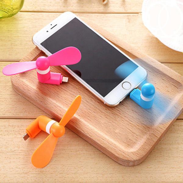 Mini ventilator portabil pentru telefon iPhone 5, 5S, 6, 6 PLUS