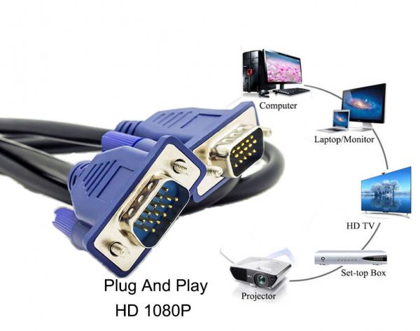 Cablu conexiune VGA-VGA 1,5 metri