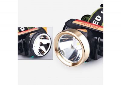 Lanterna frontala cu acumulator putere 20W
