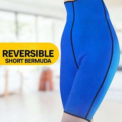 Pantaloni fitness pentru slabit din neopren Short Bermuda unisex