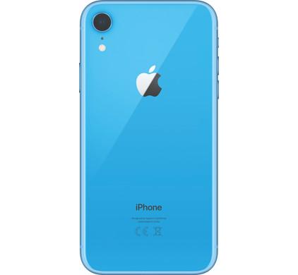 Carcasa spate sticla iPhone Xr Blue Original Swap