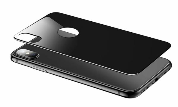 Folie sticla Spate iPhone X, Black, 2.5D
