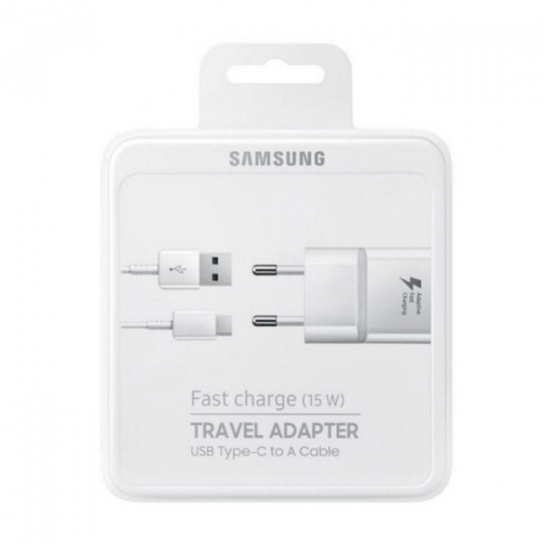 Incarcator retea Samsung  EP-TA20EWEC Fast Charging Alb