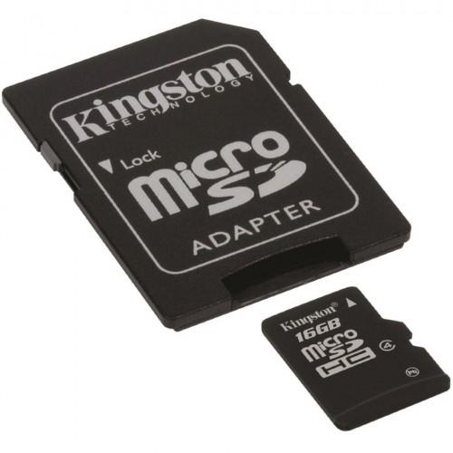 Card memorie 16GB MicroSD™ HC Clasa 4 – cu adaptor SD, Kingston SDC4/16GB