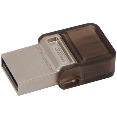 Stick Flash Drive DataTraveler microDuo 32GB, USB 2.0 & microUSB – USB OTG, Ki