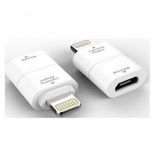 Adaptor incarcare si date, Micro USB la Lightning iPhone MILIADPWH, Alb
