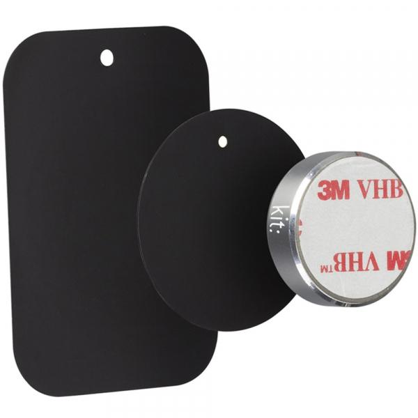 Suport auto telefon magnetic universal, prindere de bord, Kit HOLMAGSL, Argintiu