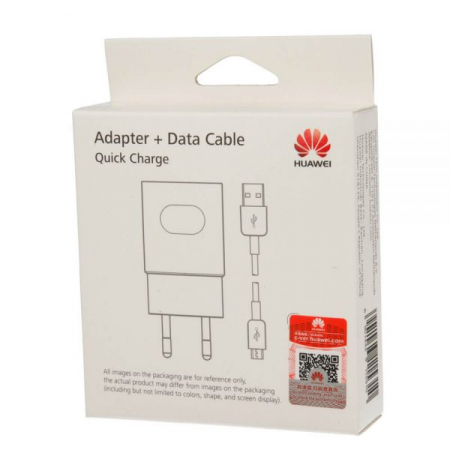 Incarcator retea Huawei AP32 White, cablu USB Type-C inclus, incarcare rapida, quick charge