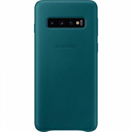 Husa Piele pentru Samsung Galaxy S10 G973f, Green