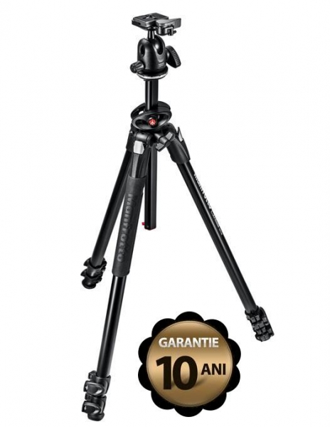 Manfrotto MK290DUA3-BH kit trepied cu cap bila