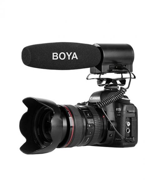 Boya BY-DMR7 microfon shotgun cu flash recorder integrat