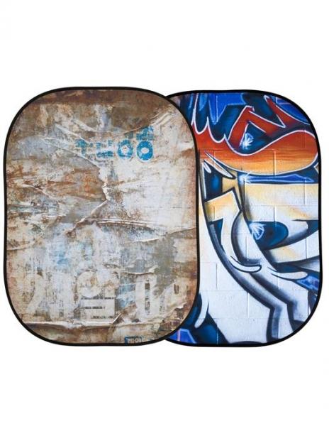 Lastolite fundal pliabil Distressed/Graffiti 1.5 x 2.1m