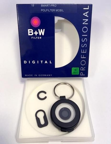 B+W Smart-Pro  filtru polarizare iPhone