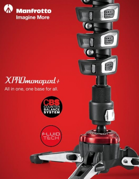 Manfrotto MVMXPROA4 Monopied fluid