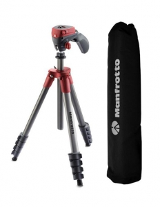 Manfrotto Action Red kit trepied cu cap foto-video hibrid