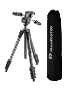 Manfrotto Compact Advanced kit trepied foto cu cap si husa, open box