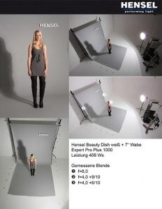 Hensel 8607 beauty reflector alb