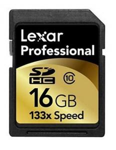 Lexar SDHC 16GB 133X card memorie