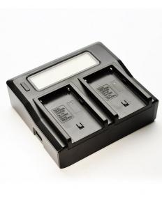 Digital Power Incarcator dual LCD pentru acumulator JVC - SSL-JVC50/70DP