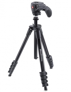 Manfrotto Compact Action Black kit trepied foto - Open Box
