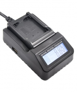 Digital Power NP-FV100 incarcator rapid cu LCD pentru Sony