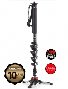 Manfrotto MVMXPROC5 Monopied video fluid carbon 5 sectiuni