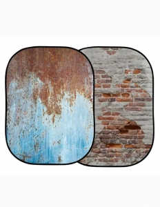 Lastolite fundal pliabil RustyMetal/Plaster Wall 1.5 x 2.1m