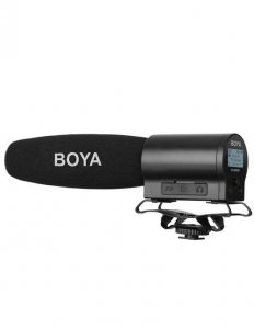 Boya BY-DMR7 microfon shotgun cu flash recorder integrat