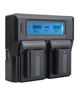 Digital Power Incarcator dual LCD pentru acumulator Sony NP-FW50