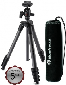 Manfrotto Compact Advanced kit trepied foto cu cap bila si husa, open box