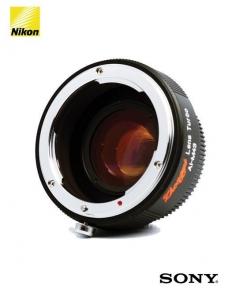 ZY Optics Lens Turbo adaptor obiective Nikon pentru Sony