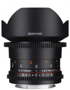 Samyang 14mm T3.1 VDSLR  MFT ED AS IF UMC II