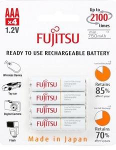 Fujitsu Acumulator White PRO 4x AA 750MA
