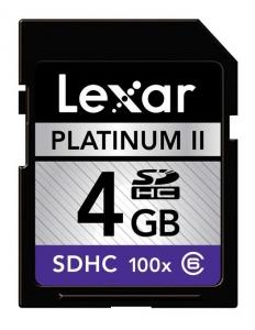 Lexar SDHC 4GB 100X card memorie