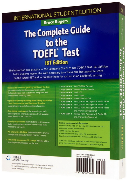 Complete Guide to the TOEFL Test - iBT - Edition , The Student's Book with CD-ROM 1