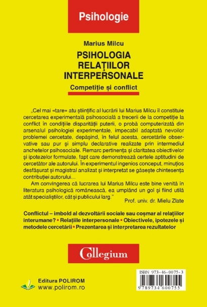 Psihologia relatiilor interpersonale. Competitie si conflict 4